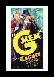 G Men art print poster with simple frame