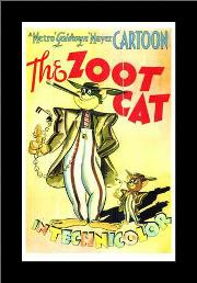 Zoot Cat, the art print poster with simple frame