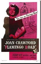 Flamingo Road art print poster with block mounting