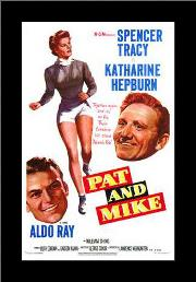 Pat and Mike art print poster with simple frame