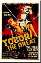 Tobor the Great art print poster with block mounting