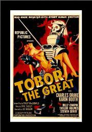 Tobor the Great art print poster with simple frame