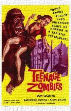 Teenage Zombies art print poster transferred to canvas