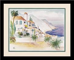 Ocean Vista art print poster with simple frame