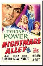 Nightmare Alley art print poster with block mounting