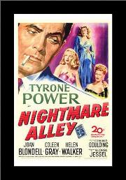 Nightmare Alley art print poster with simple frame