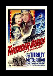 Thunder Birds art print poster with simple frame