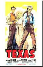Texas art print poster with block mounting