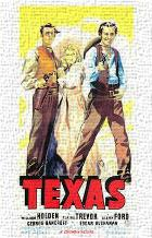 Texas art print poster transferred to canvas