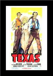 Texas art print poster with simple frame