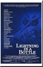 Lightning in a Bottle art print poster with block mounting