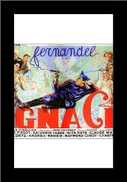 Ignace art print poster with simple frame