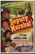 Deputy Marshal art print poster with block mounting
