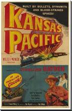 Kansas Pacific art print poster with block mounting