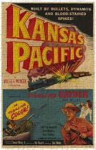 Kansas Pacific art print poster transferred to canvas