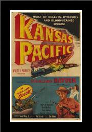 Kansas Pacific art print poster with simple frame