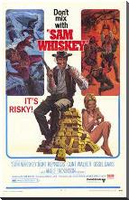 Sam Whiskey art print poster with block mounting