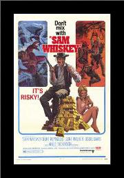 Sam Whiskey art print poster with simple frame