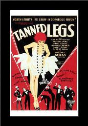 Tanned Legs art print poster with simple frame