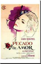 Pecado De Amor art print poster with block mounting