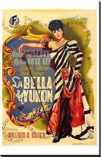 Belle of the Yukon art print poster with block mounting