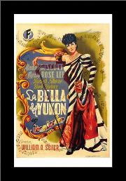 Belle of the Yukon art print poster with simple frame