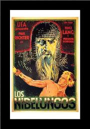 Nibelungos, Los art print poster with simple frame