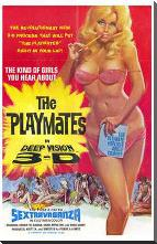 Playmates in Deep Vision 3-D art print poster with block mounting
