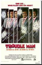 Trouble Man art print poster with block mounting