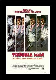 Trouble Man art print poster with simple frame