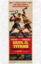 Duel of the Titans art print poster transferred to canvas