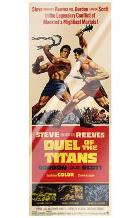 Duel of the Titans art print poster with laminate