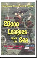 20,000 Leagues Under the Sea art print poster with block mounting