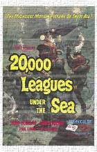 20,000 Leagues Under the Sea art print poster transferred to canvas