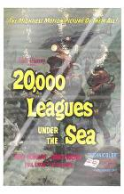 20,000 Leagues Under the Sea art print poster with laminate