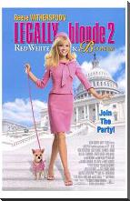 Legally Blonde 2: Red, White Blonde art print poster with block mounting