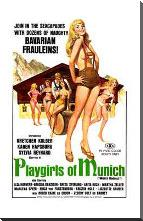 Playgirls of Munich art print poster with block mounting