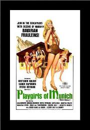 Playgirls of Munich art print poster with simple frame