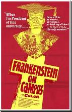 Doctor Frankenstein on Campus art print poster with block mounting
