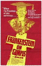 Doctor Frankenstein on Campus art print poster transferred to canvas