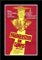 Doctor Frankenstein on Campus art print poster with simple frame