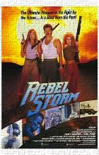 Rebel Storm art print poster transferred to canvas