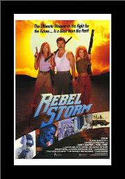 Rebel Storm art print poster with simple frame
