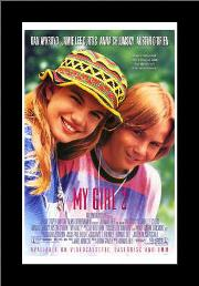 My Girl 2 art print poster with simple frame