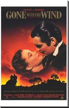 Gone with the Wind art print poster with block mounting