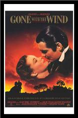 Gone with the Wind art print poster with simple frame