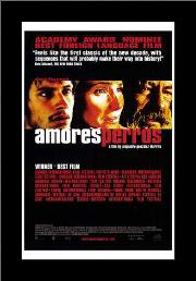 Amores Perros art print poster with simple frame