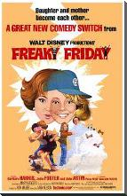 Freaky Friday art print poster with block mounting