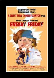 Freaky Friday art print poster with simple frame