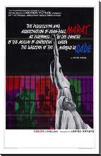 Marat De Sade art print poster with block mounting